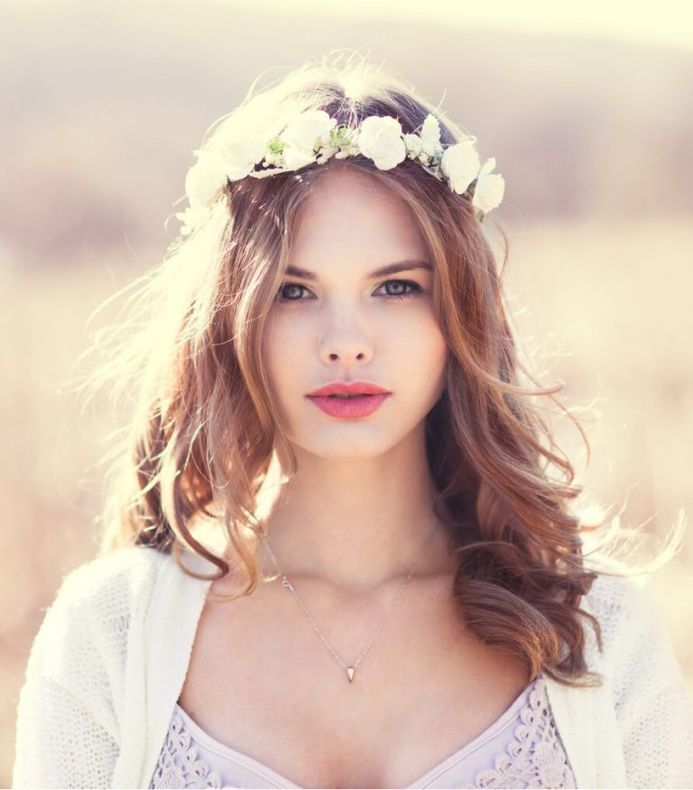 Boho Flower Crown Square