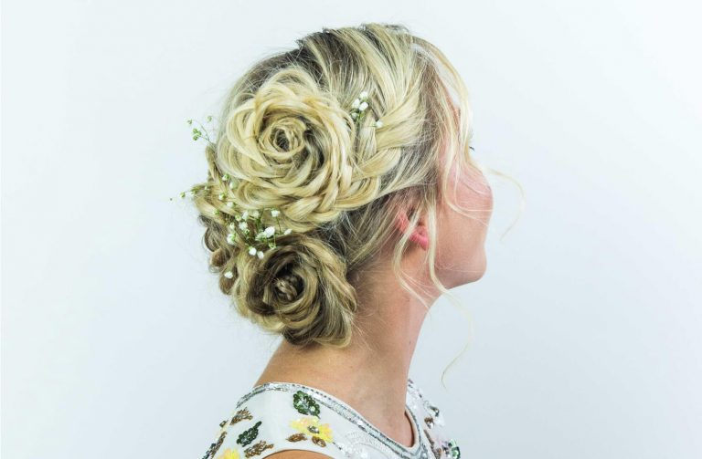 Twisted Flower Hair Design